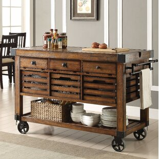 Belfield Wood & Metal Kitchen Cart