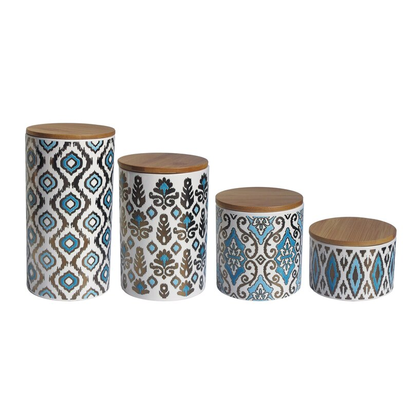 American Atelier Weber 4 Piece Kitchen Canister Set & Reviews ...