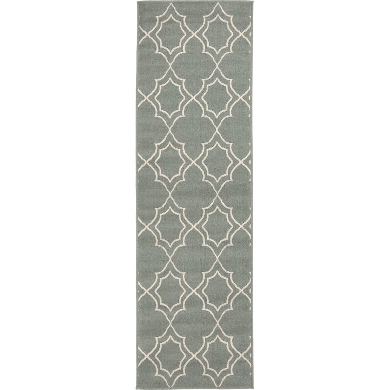 Alcott Hill Amato Power Loomed Green Indoor/Outdoor Area Rug, Size: Runner 23 x 79