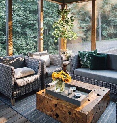 Sunroom Rustic Design Ideas Wayfair