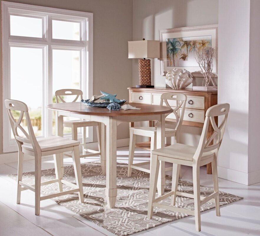 Panama Jack Millbrook 5 Piece Extendable Dining Table Set