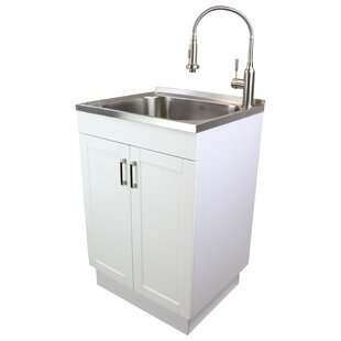 23 6 X 19 7 Free Standing Laundry Sink With Faucet