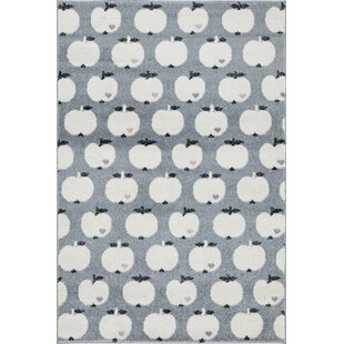 Apple Grey White Rug