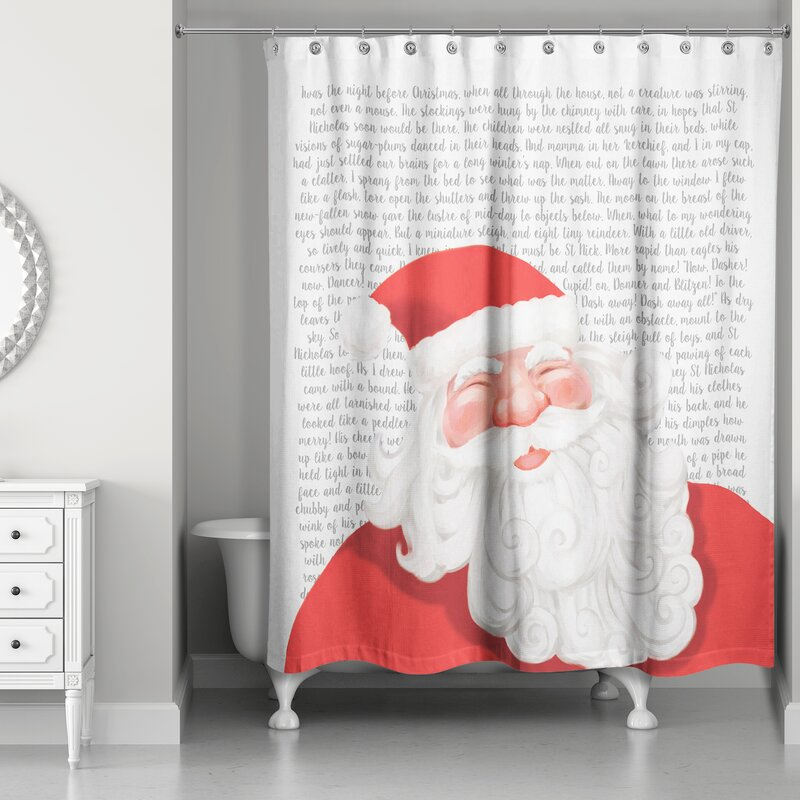 The Holiday Aisle Twas the Night Before Santa Shower Curtain ...