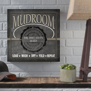 Mudroom Banner Textual Art On Wred Canvas