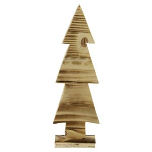 Wood Cut Out Christmas Tree Table Top Decoration