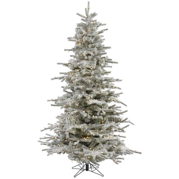 Vickerman Flocked Sierra 8.5' White Fir Artificial Christmas Tree ...