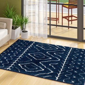 Marketfield Soft Boho Shag Blue Area Rug