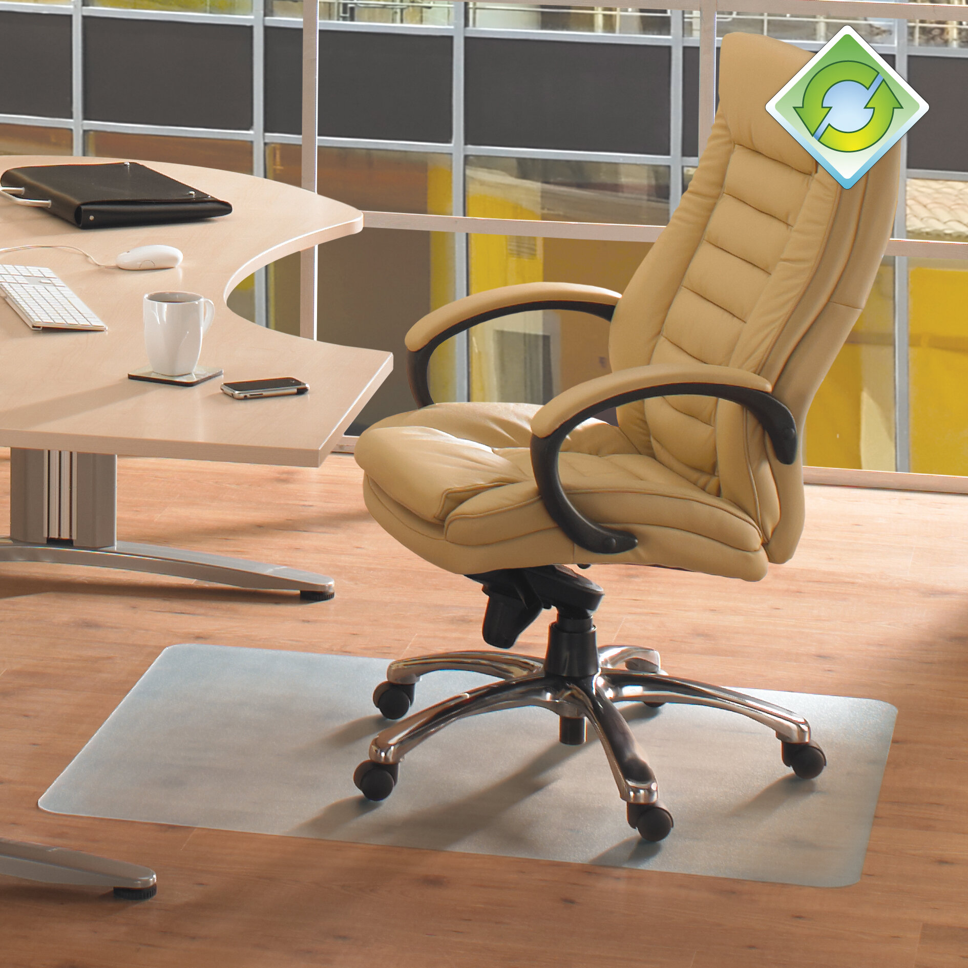 floortex ecotex revolutionmat hard floor straight chair mat