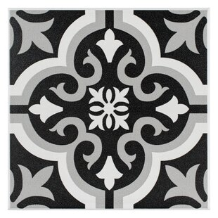 Lima 7 75 X Ceramic Field Tile In Black Gray
