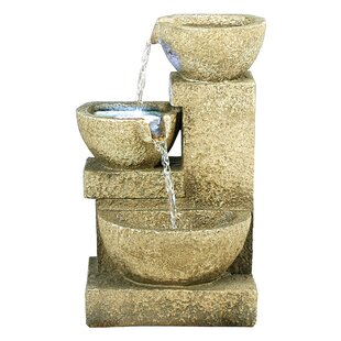 Outdoor fountains styles for your home joss main resin cascading garden tiered fountain with led light workwithnaturefo