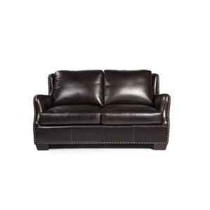 Vicar Leather Loveseat by Lazzaro Leather