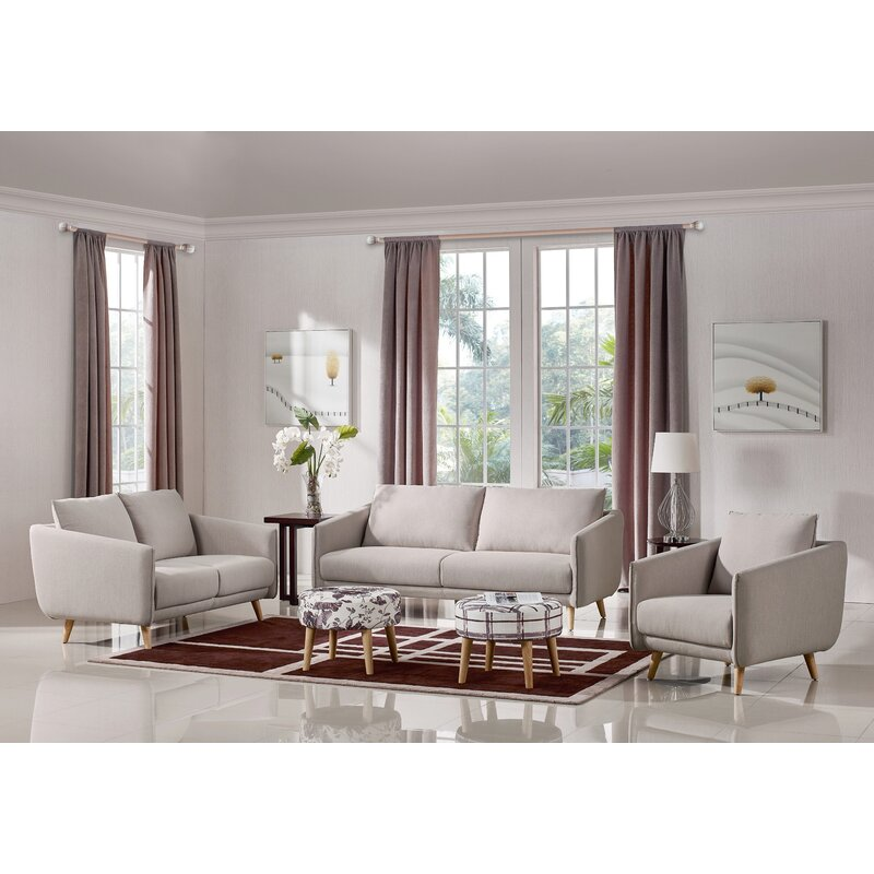 Three Rooms Of Furniture: Alivia 3 Piece Living Room Set & Reviews