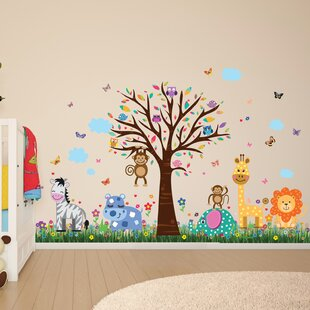 Howland Zoo And Butterflies Grass Wall Decal