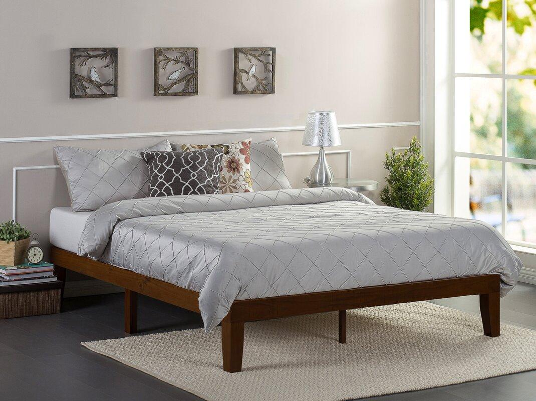 Wayfair Queen Bed Platform Wayfair Canada Queen Bed Frame: Winston Porter Hullinger Solid Wood Platform Bed & Reviews
