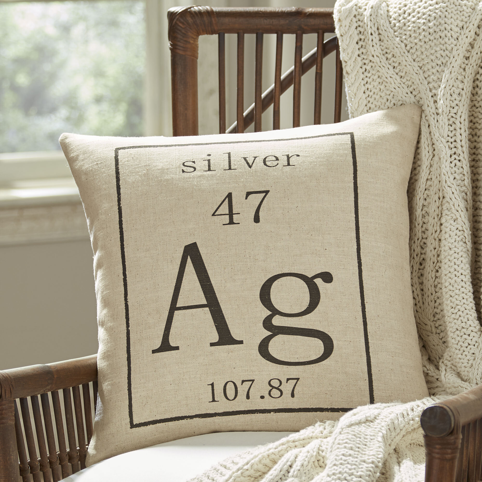 Birch lane silver periodic table pillow cover wayfair urtaz Gallery
