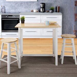 Sigrid 3 Piece Counter Height Pub Table SetWhite Pub Tables   Bistro Sets You ll Love   Wayfair. Tall Bistro Table And Chairs Indoor. Home Design Ideas
