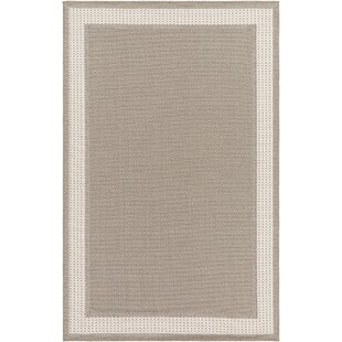 273d4d6f976 Midwest Bordered Charcoal Taupe Indoor Outdoor Area Rug