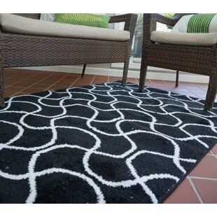 Read Reviews One-of-a-Kind Algedi Infinity Black/White Area Rug ByWrought Studio