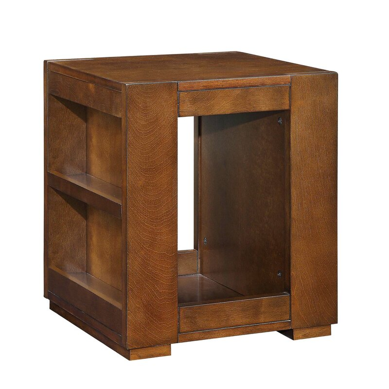 Tarrytown Side Storage Bookshelf Wooden End Table With