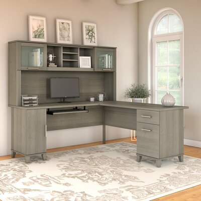 Gray L Shaped Desks You Ll Love In 2019 Wayfair