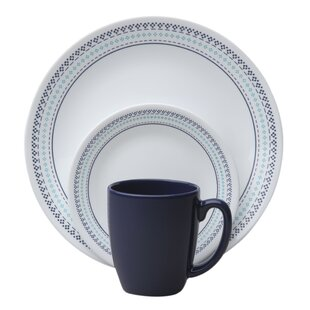 Livingware™ Folk Stitch 16 Piece Dinnerware Set Service for 4  sc 1 st  Wayfair & Christmas Dinnerware Sets Youu0027ll Love | Wayfair
