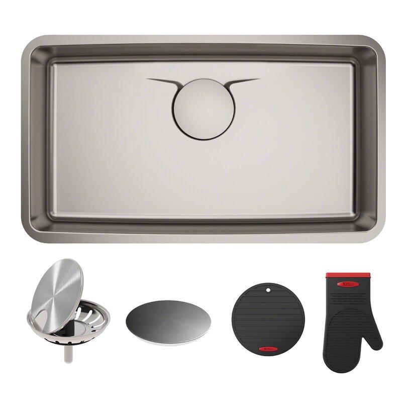 """Kitchen Sink 19 X 33: KD1US33B Kraus Dex™ Series 33"""" X 19"""" Undermount Kitchen"""