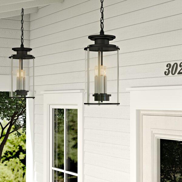 17 Stories Evgenia 3 Light Outdoor Hanging Lantern