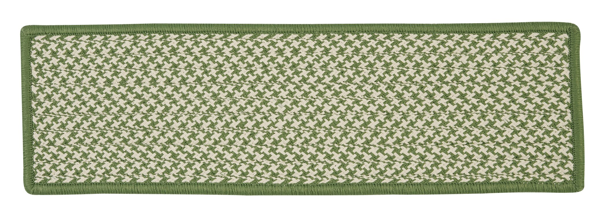 Outdoor Houndstooth Tweed Leaf Green Stair Treads