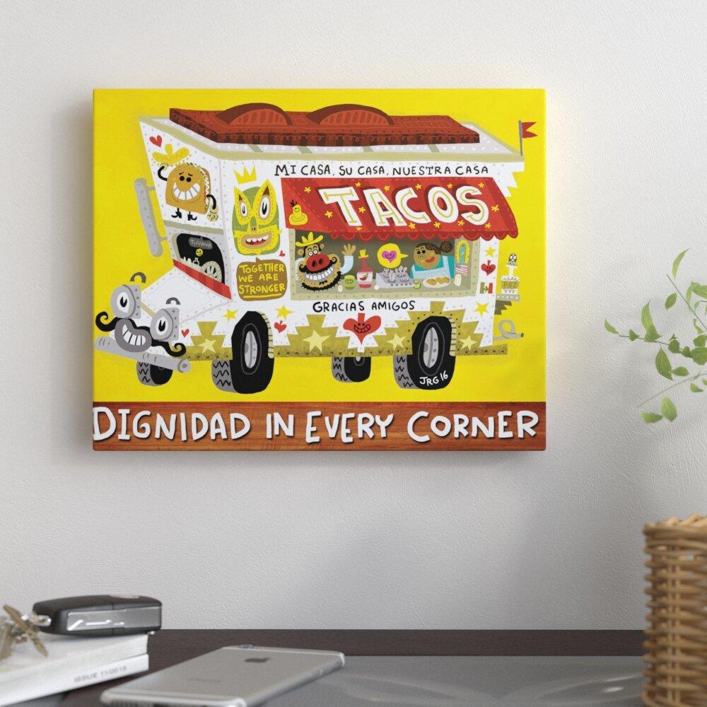 East Urban Home \'Taco Truck\' Graphic Art Print on Canvas | Wayfair
