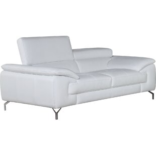 colwyn italian leather loveseat - White Couches