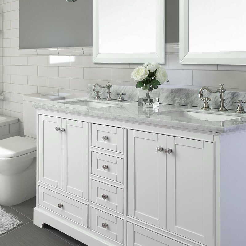 white bathroom vanity with marble top birch 72 quot bath vanity set with italian carrara white 25882