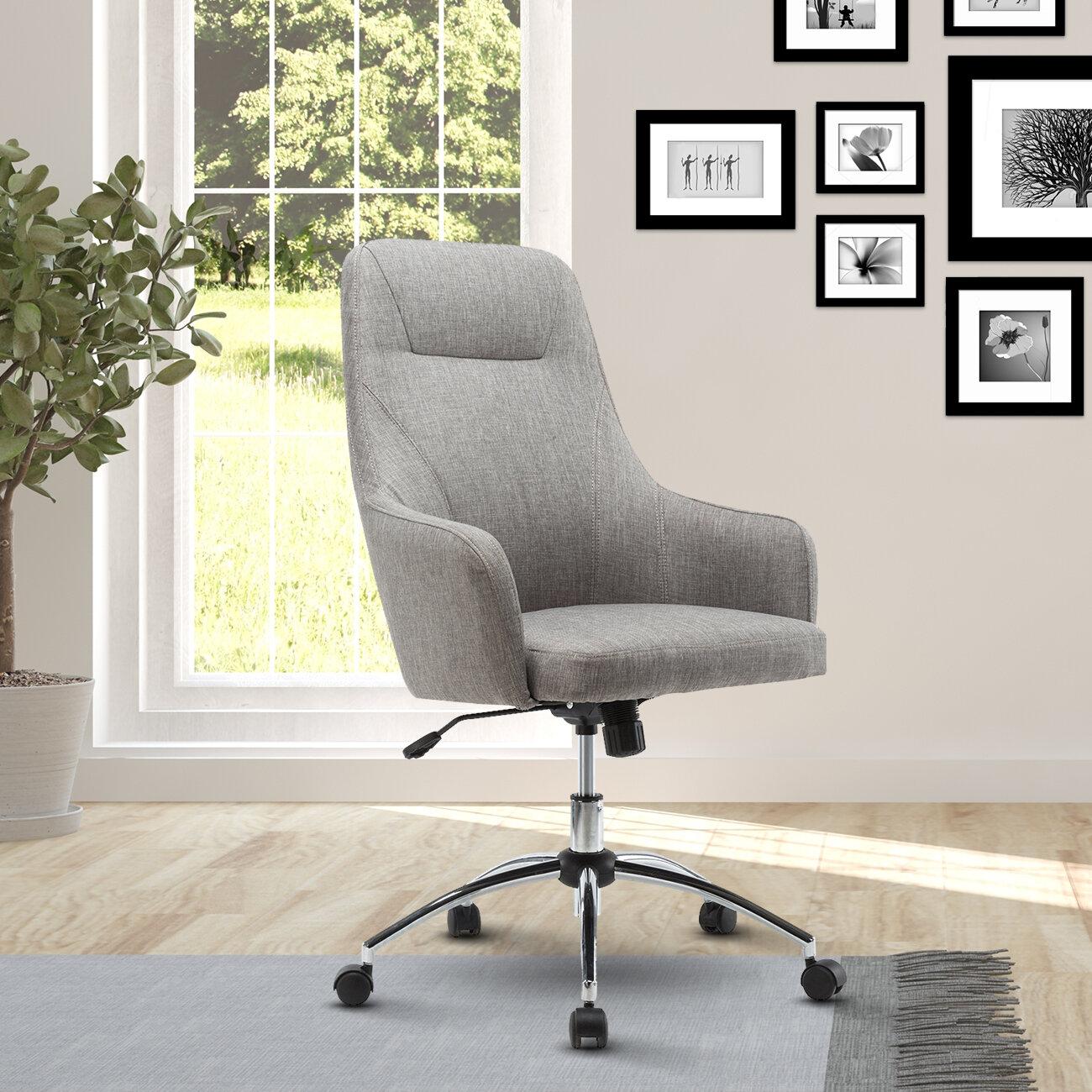 Ebern Designs Fowler Comfy Height Adjustable Rolling Office High Back  Executive Chair U0026 Reviews | Wayfair