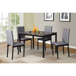Noyes 5 Piece Dining Set (Set of 5) by Red Barrel Studio