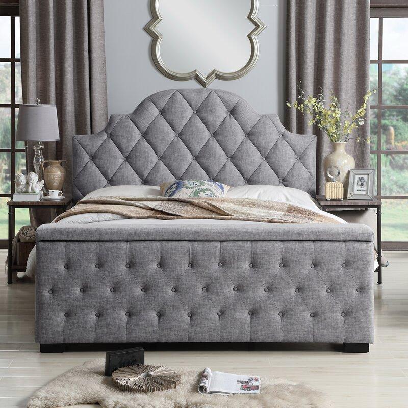 mistana thom tufted upholstered storage platform bed birch lane. Black Bedroom Furniture Sets. Home Design Ideas