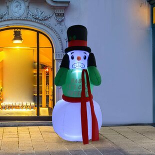 Outdoor Shivering Snowman Animated Airblown Christmas Lawn Inflatable