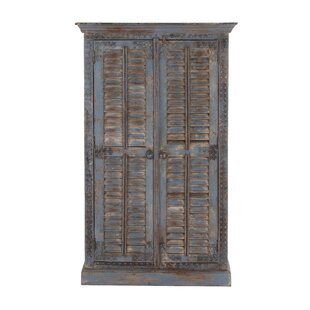 2 Door Wood Armoire Accent Cabinet