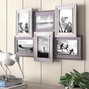 0b637495c19 Virginia 6-Opening Collage Distressed Picture Frame. by Highland Dunes
