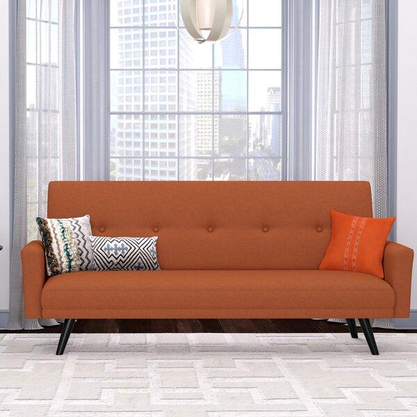 George Oliver Westbrooks Click Clack Futon Convertible Sofa U0026 Reviews |  Wayfair