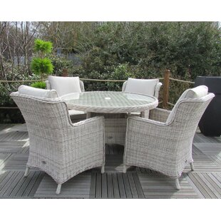 Swindon 4 Seater Dining Set with Cushions by Lynton Garden