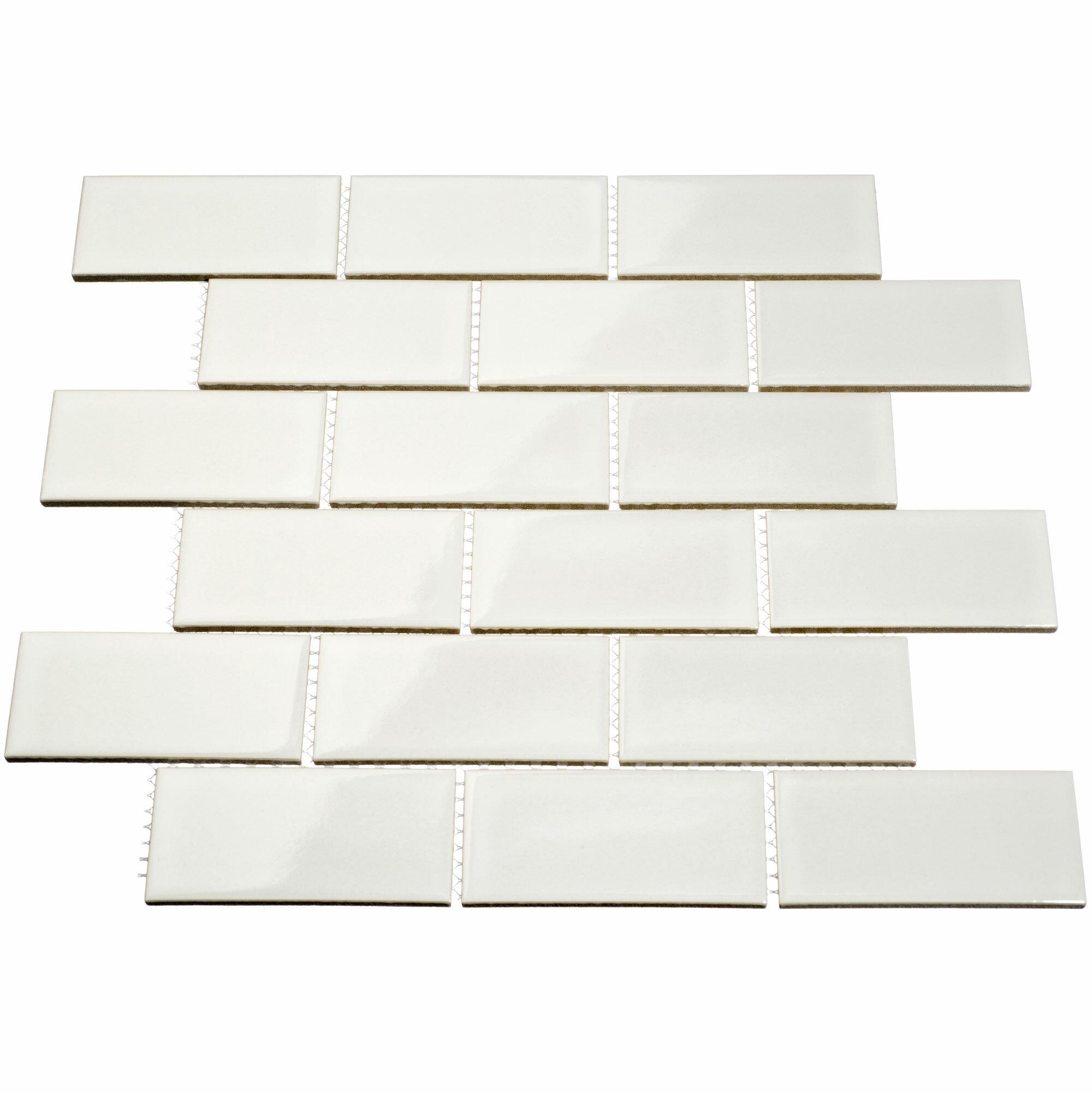 Giorbello 2 x 4 porcelain subway tile in white reviews wayfair dailygadgetfo Gallery