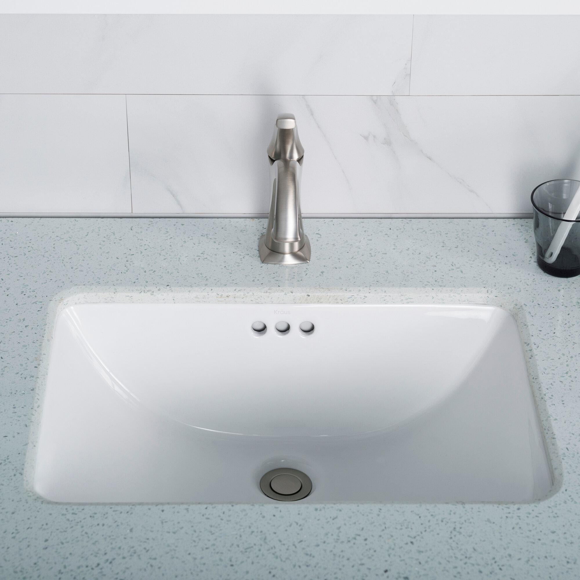 Kcu 241 Kraus Elavo Ceramic Rectangular Undermount Bathroom Sink
