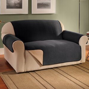 Waterproof Reversible Fleece Furniture Protector Box Cushion Sofa Slipcover by Symple Stuff