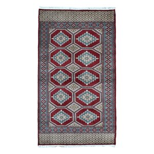 Ewan Oriental Hand-Woven Rectangle Wool Red Area Rug