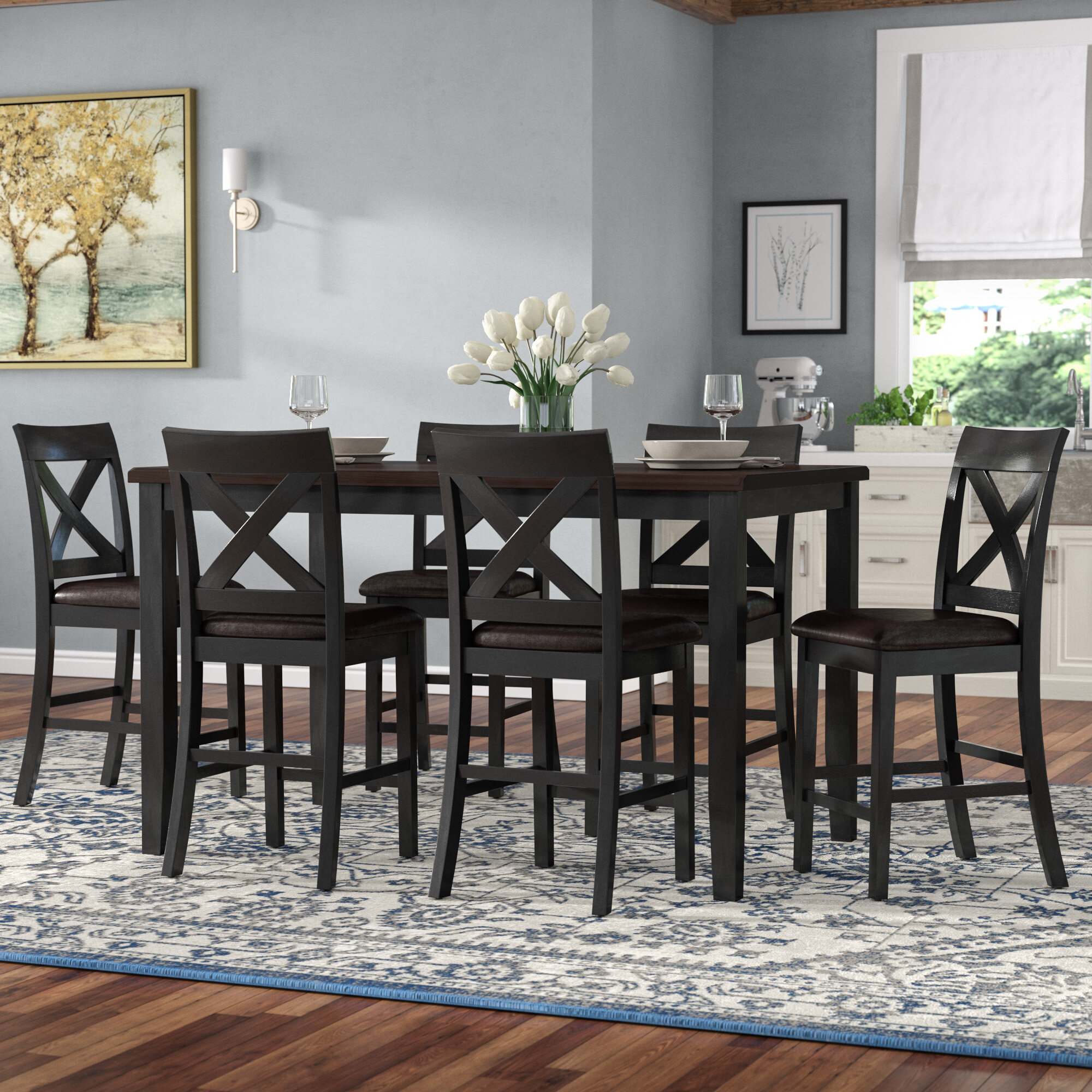 Darby Home Co Nadine 7 Piece Breakfast Nook Dining Set U0026 Reviews | Wayfair