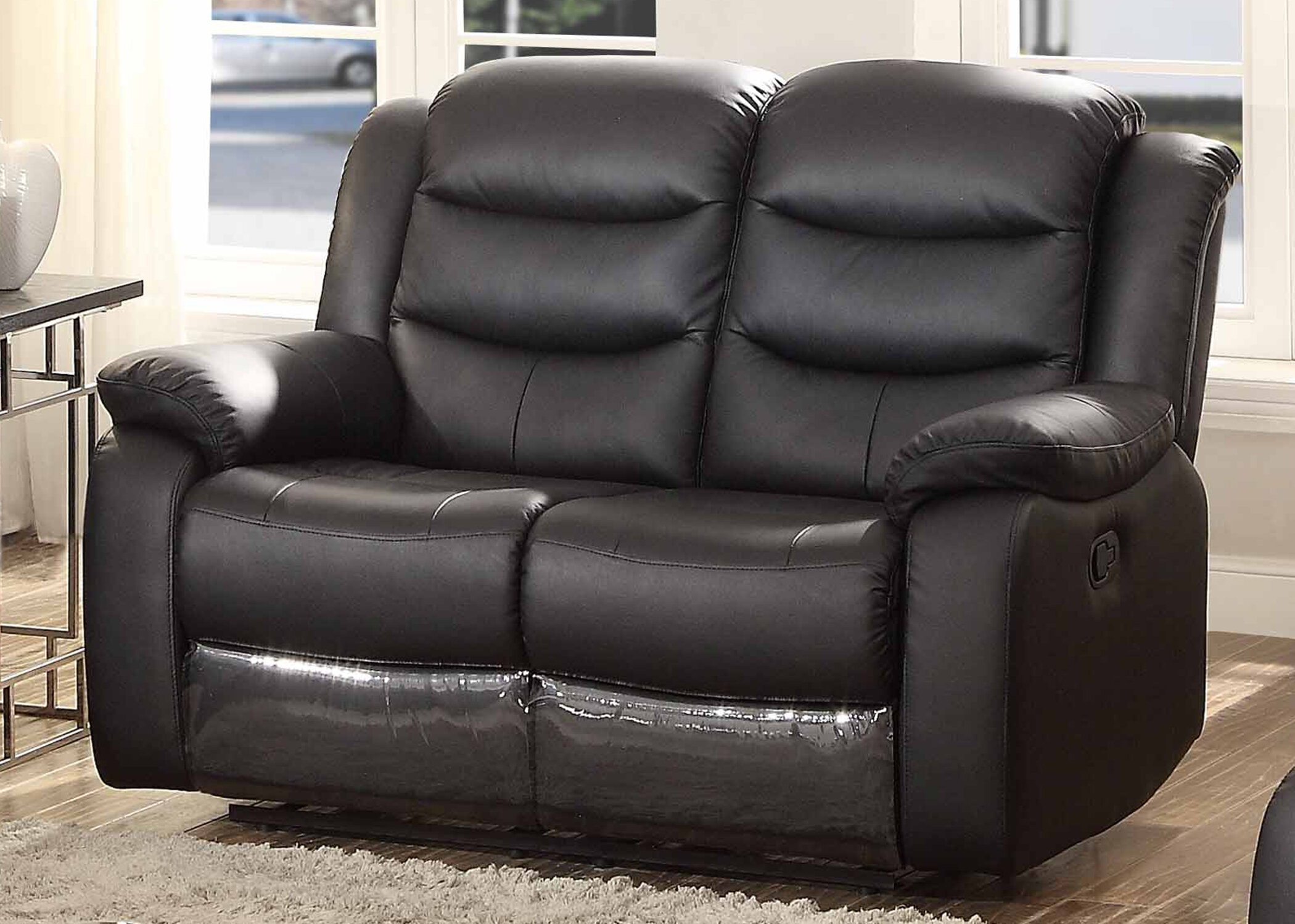 at console loveseat power leather reclining white product with gardner from furniture fargo