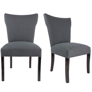 Salmon Allure Pebble Spring Seating Double Dow Upholstered Parsons Chair (Set of 2) by Laurel Foundry Modern Farmhouse