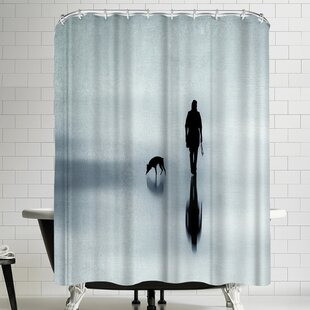 One Man And His Dog Shower Curtain