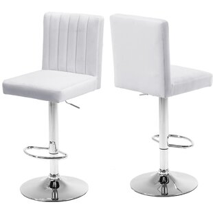 Aesop Adjustable Height Swivel Bar Stool (Set of 2)