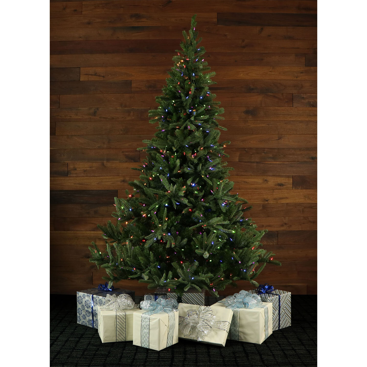 Fraser Hill Farm Noble Fir 7.5\' Green Artificial Christmas Tree with ...